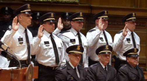 Moving up for 24 Providence police officers | video