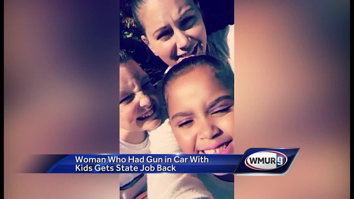 Woman who had gun in car with children gets state job back