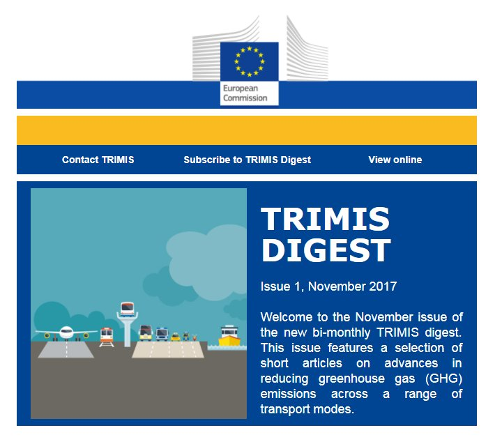 test Twitter Media - The November issue of the new bi-monthly #TRIMIS_EU digest is now online. This issue features a selection of short articles on advances in reducing GHG emissions across a range of transport modes: https://t.co/yUlcwQAv0t https://t.co/vZ5zz0ylJY