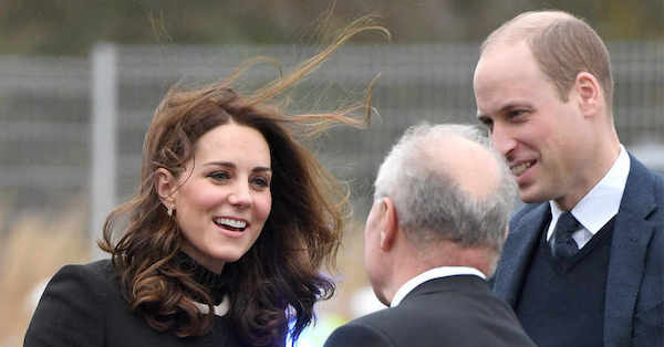 Not even a gust of wind can ruin Kate Middleton's royally perfect 'do.