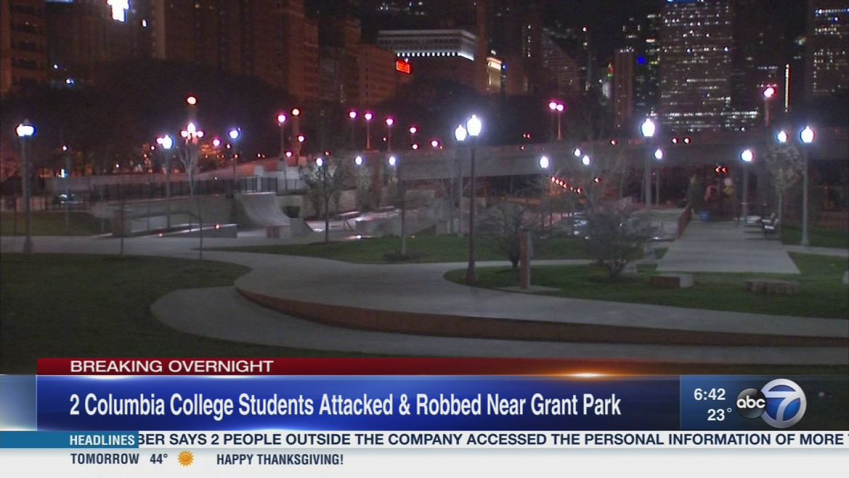 Columbia College students robbed by 3 males in 5th incident near Grant Park