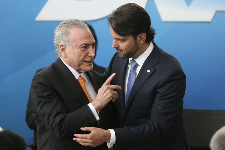 @BroadcastImagem: Temer empossa Alexandre Baldy como ministro das Cidades, no Palácio do Planalto. Dida Sampaio/Estadão