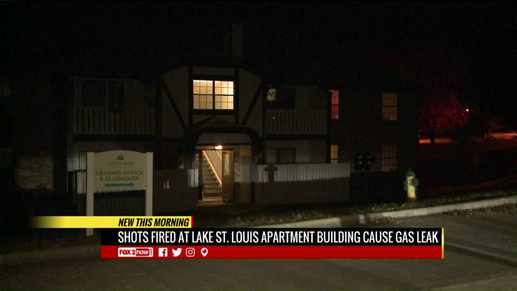 Shots fired at Lake St. Louis apartment building causes gas leak