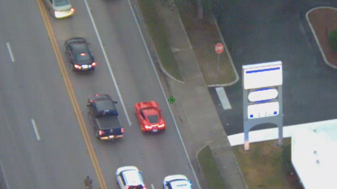 WATCH: High speed police chase involving red Corvette in Volusia County