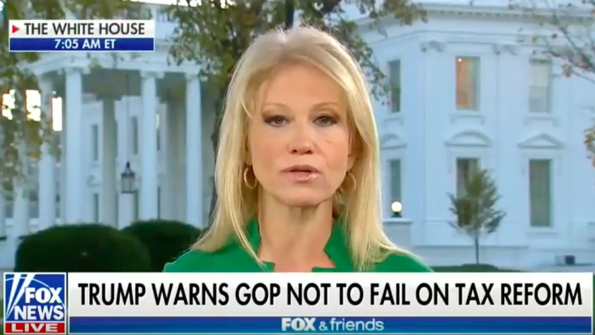 It looks like Kellyanne Conway just violated federal law on national TV