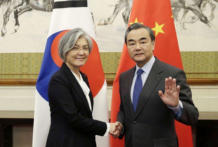 @BroadcastImagem: Kang Kyung-wha, ministra sul-coreana, vai a Pequim em esforço para reforçar laços. Jason Lee/AP