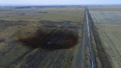 Testing finds no oil in ditch near Keystone spill
