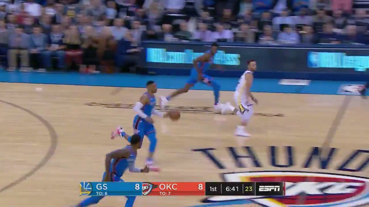 The @okcthunder get out in transition on ESPN! #ThunderUp https://t.co/QfDr13QUmn