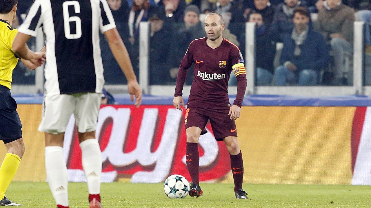 �� Segon canvi al Barça ⌚️ Minut 81 �� Surt Iniesta �� Entra J.Alba #JuveBarça https://t.co/gq8oYM9SuX