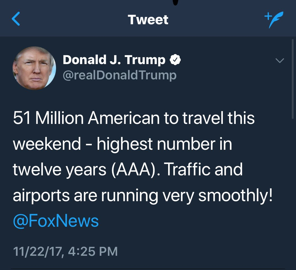 So @realDonaldTrump is now giving traffic and weather together on the 5's - and taking credit for it https://t.co/p0rs51zXTP