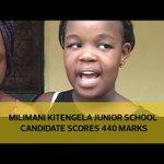 Milimani Kitengela Junior School candidate scores 440 marks
