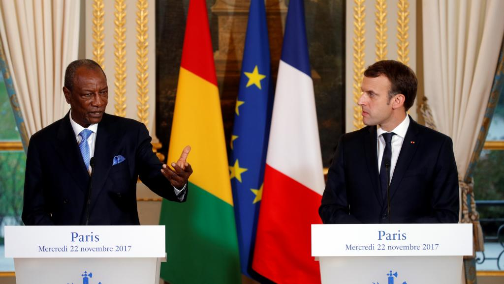 Alpha Condé et Emmanuel Macron évoquent l'esclavage en Libye et le Togo