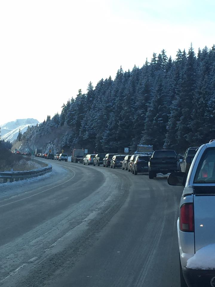 Seward Highway reopened after accident near Portage