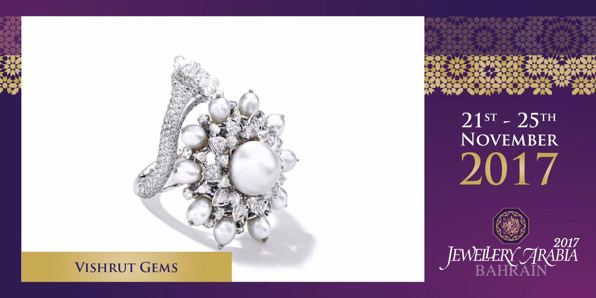 test Twitter Media - Vishrut Gems deals in natural saltwater pearls, diamonds, coloured gemstones, and natural pearls from Bahrain in particular 💍 #vishrutgems #jewelleryarabia2017 #elegant #beautiful #classy https://t.co/1UrVuPiTvh
