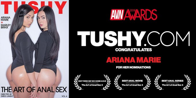 Big CONGRATS to @ArianaMariexxx on her numerous @AVNMediaNetwork @avnawards nominations! 🏆🍾🎊 Get it girl