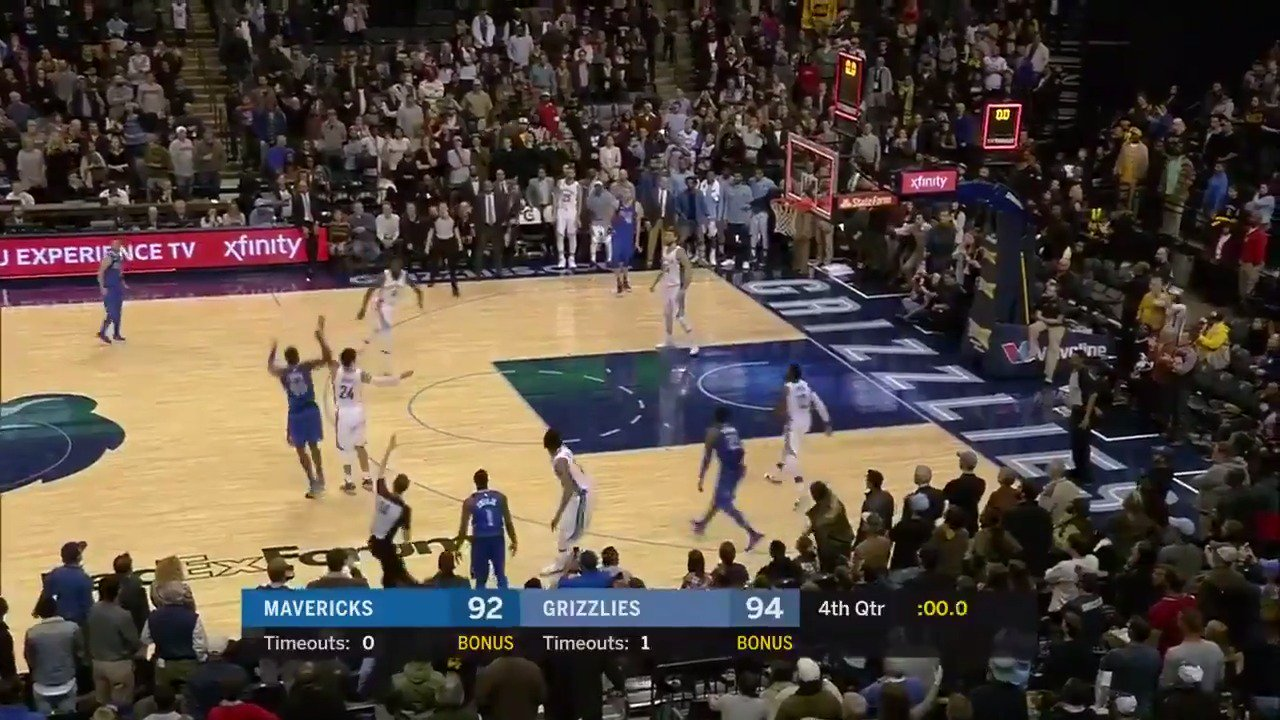 The bank is open!   Harrison Barnes banks in the @TISSOT buzzer beater for the @dallasmavs! #ThisIsYourTime https://t.co/10e3g0KSVF