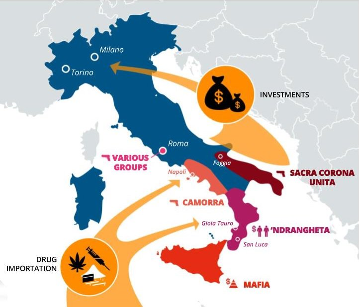 Mapping the mafia: Italy's web of criminal gangs