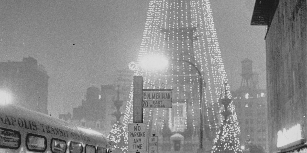 How the 'world's tallest Christmas tree' came to be on Monument Circle