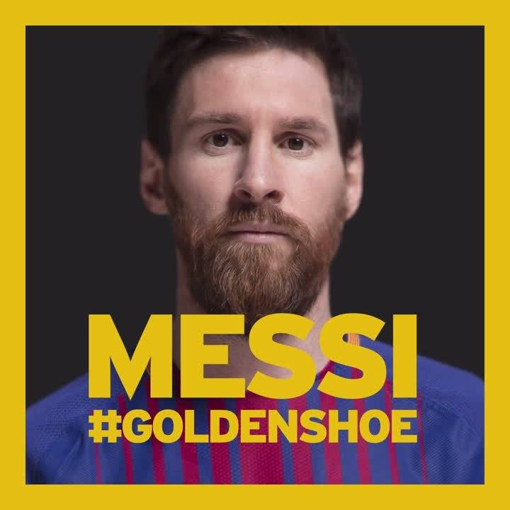RT @FCBarcelona: #GoldenShoe in numbers.  Reply with an emoji to describe Leo #Messi ???? ⚽️ ???? ???? ???? ???? ???? ????  #MessiIsGold https://t.co/whdmxFAPZF