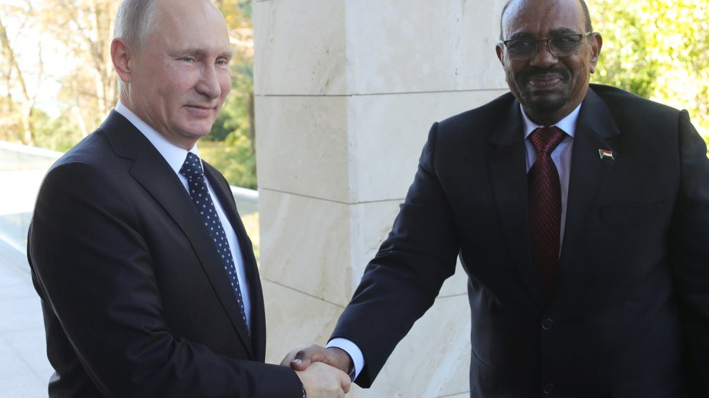 Sudan's President Bashir asks Putin for 'protection' from 'aggressive' US