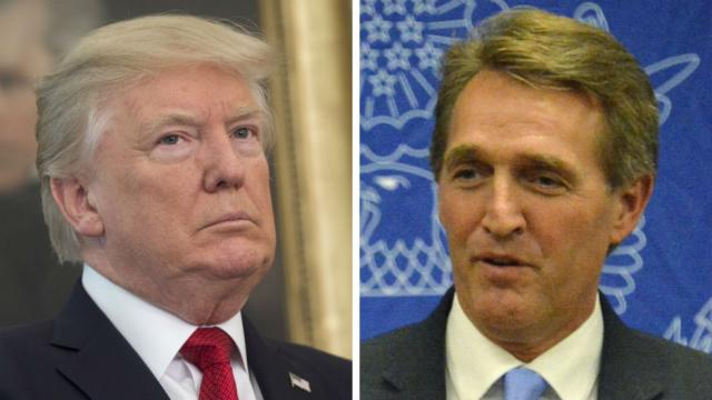 Flake tears into Trump for backing Moore: How can you support a sexual predator? https://t.co/n1UVWyG4mZ https://t.co/XxfcAuhA8I