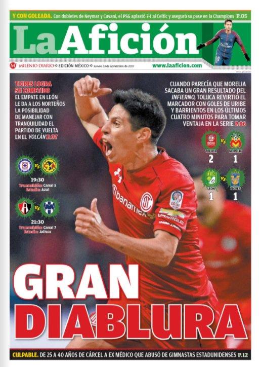 #FelizJueves | Te dejamos nuestra portada de hoy en @Milenio Diario Aquí toda la información https://t.co/auXhHLUOmS https://t.co/7TcpqbPEV4