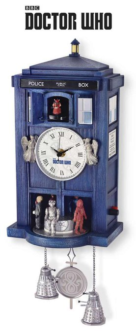 RT @doctorwhosite: Just arrived in stock for #DoctorWhoDay The  Tardis Sculpted  Clock https://t.co/56O7rxkwDr https://t.co/khldCXvcef