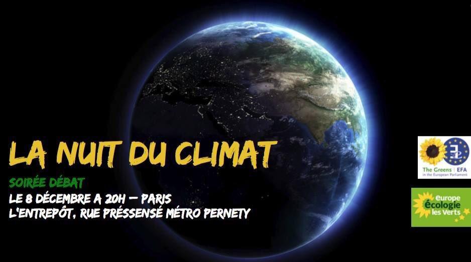Le 8 décembre prochain, RDV pour #LaNuitDuClimat avec @marietouss1 , @euroecolos et @EELV https://t.co/8zBxGn3h59