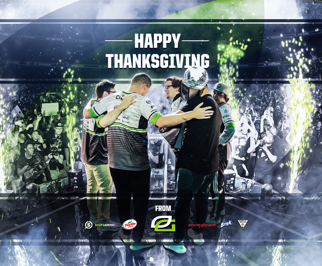 #HappyThanksgiving2017 From the OpTic Family, to yours.- h