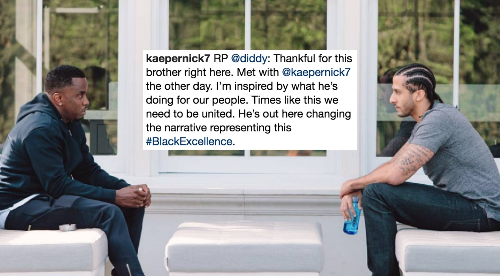 .@diddy sits down with @Kaepernick7 https://t.co/IH5iXgPWlg