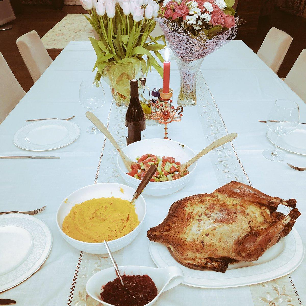 Пришла домой, а тут #Thanksgiving #спасибовсем #thankyouall https://t.co/2LP56Cvvbm