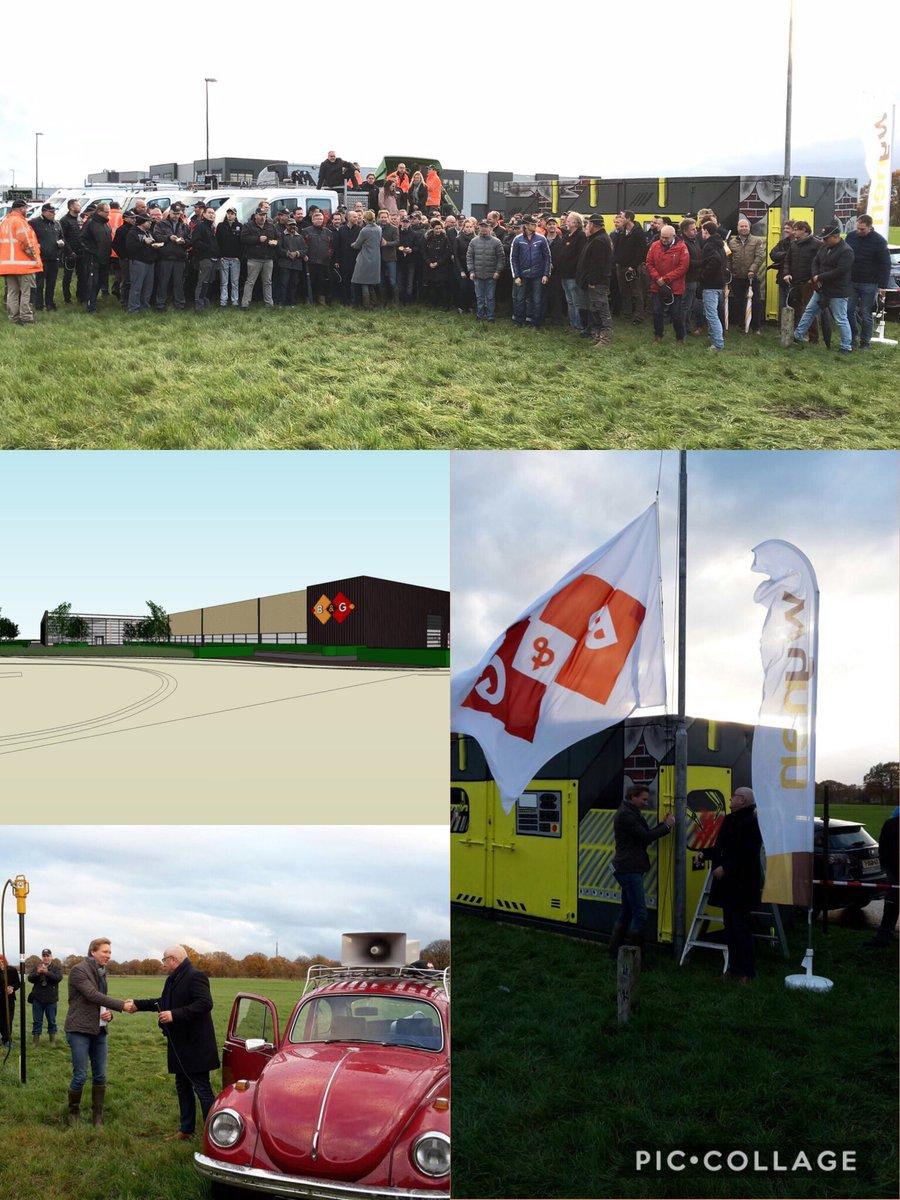 test Twitter Media - Nieuwbouw B&G Hekwerk BV op bedrijventerrein Habraken symbolisch van start. Wat een feest. Samen met directeur/eigenaar Arthur van der Graaf de vlag gehesen onder toeziend oog van voltallig B&G-team. Gefeliciteerd en een voorspoedige bouw! https://t.co/w5hoYcqY0A