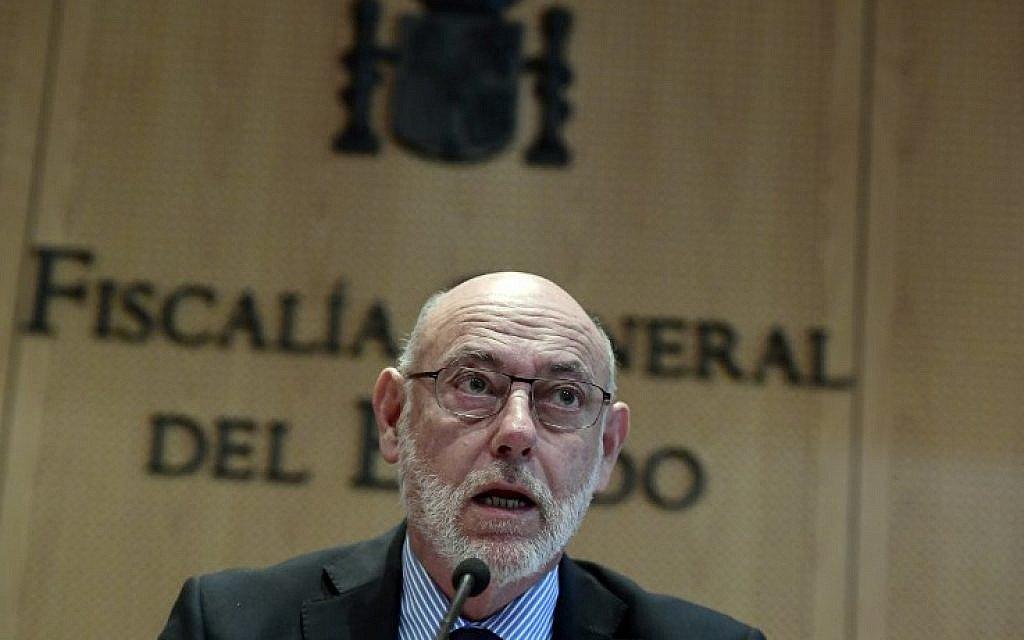 Former Spanish AG accuses Israel, Argentine Jews of killing his successor