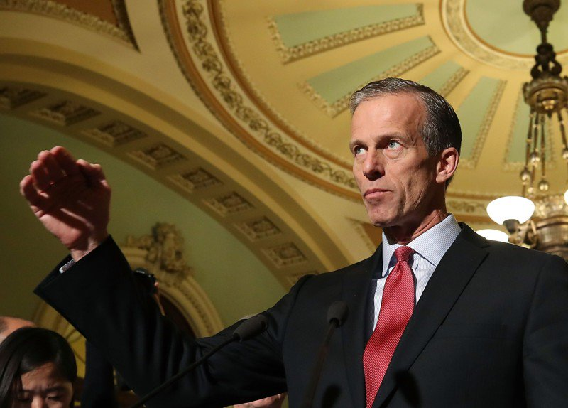 Thune basically right about who pays Obamacare fines
