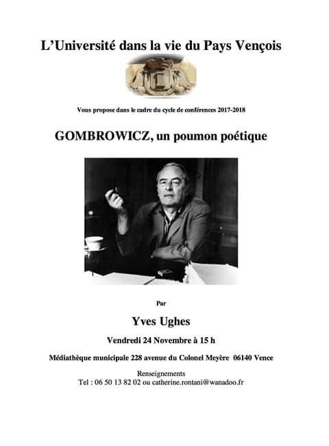 Conférence sur Witold #Gombrowi