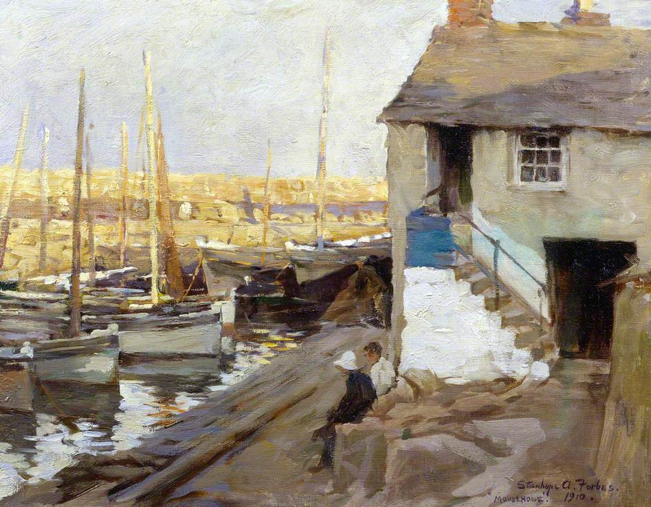 RT @DrLivGibbs: Mousehole Harbour, Cornwall by Stanhope Alexander Forbes 1910 (@BrightonMuseums). https://t.co/pCdodEkZmQ