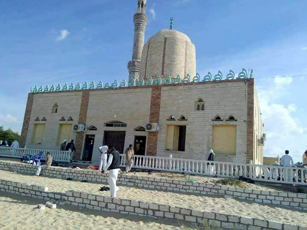 JUST IN: At least 54 killed and 75 injured in attack during prayers at Egypt mosque