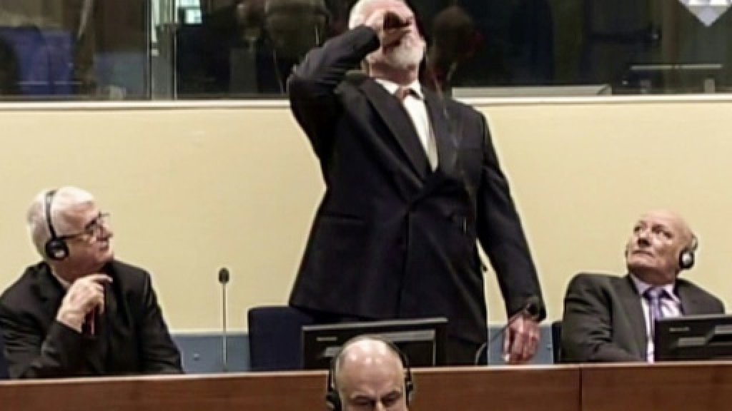 How did Bosnian Croat war criminal obtain 'poison'?