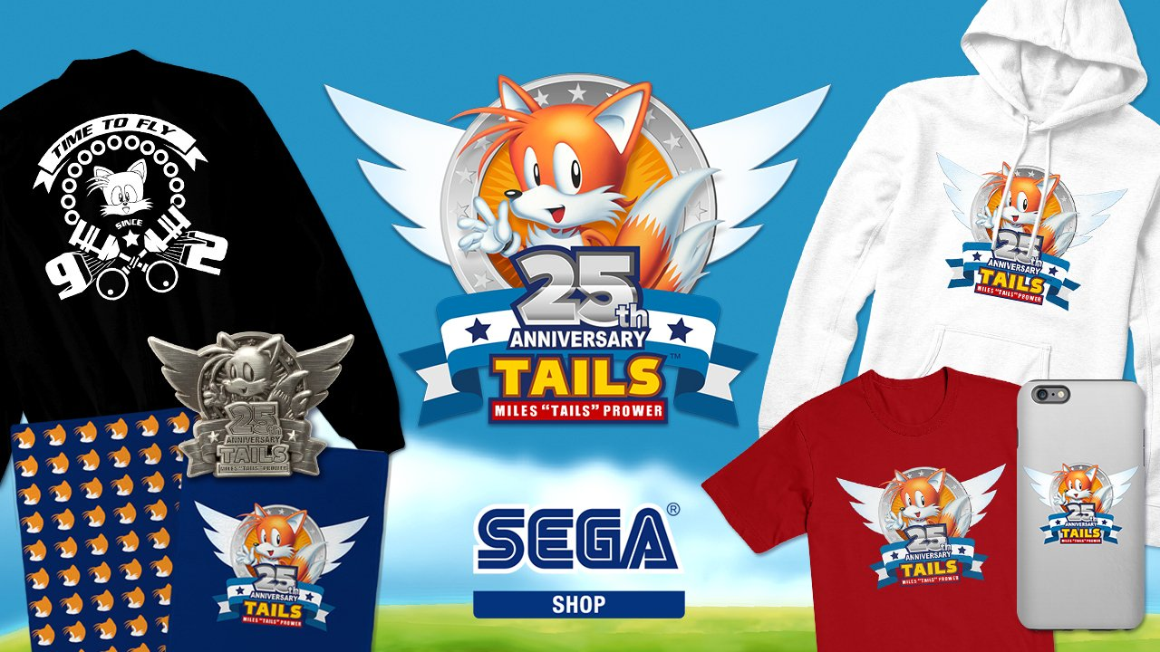 Celebrate Tails' 25th Anniversary with our new exclusive line of stuff! Check it out at https://t.co/CO6sP1aa3C https://t.co/H5y1SUsjAZ
