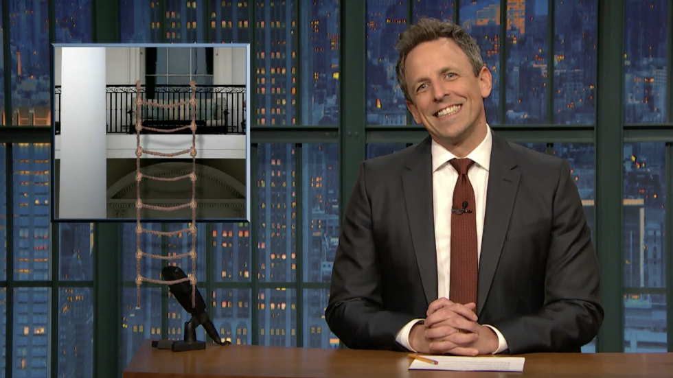 WATCH Seth Meyers Trump thinks he's working harder because tweets are twice as long now