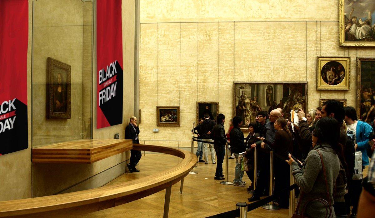El Museo del Louvre baja 100 millones el precio de La Gioconda durante el Black Friday