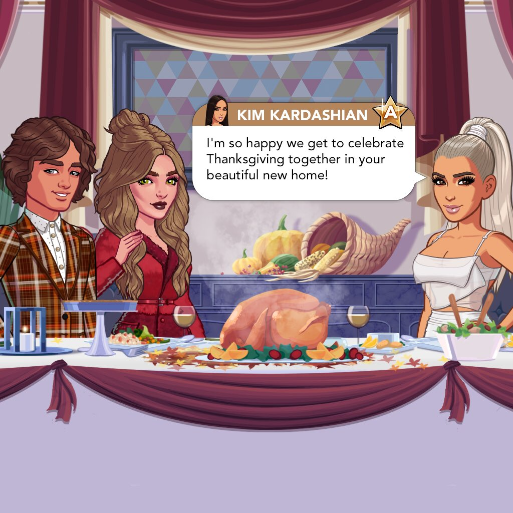 Who had Thanksgiving dinner in the #KimKardashianGame ? Join me all weekend long! https://t.co/XNWPfZBxTd https://t.co/uXrxGJUHYv