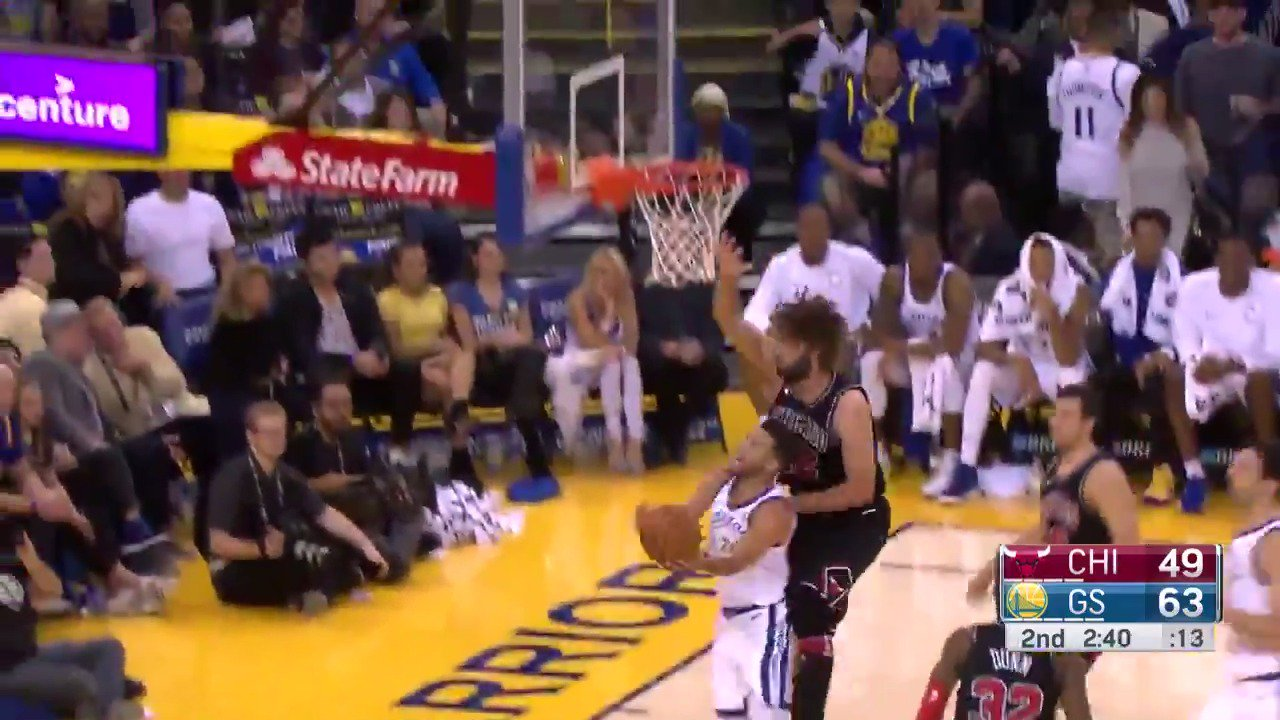 Stephen Curry sizzles with 26 points in the 2nd quarter on @NBATV! https://t.co/vTFuIaPqzP