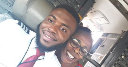 Photos: Nigerian University Dropout Now A Pilot Flies His Mum For The First Time https://t.co/YOvosDAya3 https://t.co/c31DaRna17