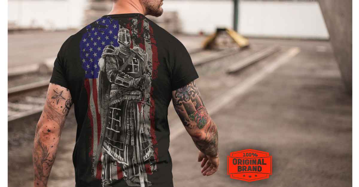 test Twitter Media - The true American Patriots Knight Crusader tshirt. An awesome design! #AmericanPride #MAGA #AmericaFirst  ➡️ https://t.co/DvCYR481jq https://t.co/anyMqMylvt