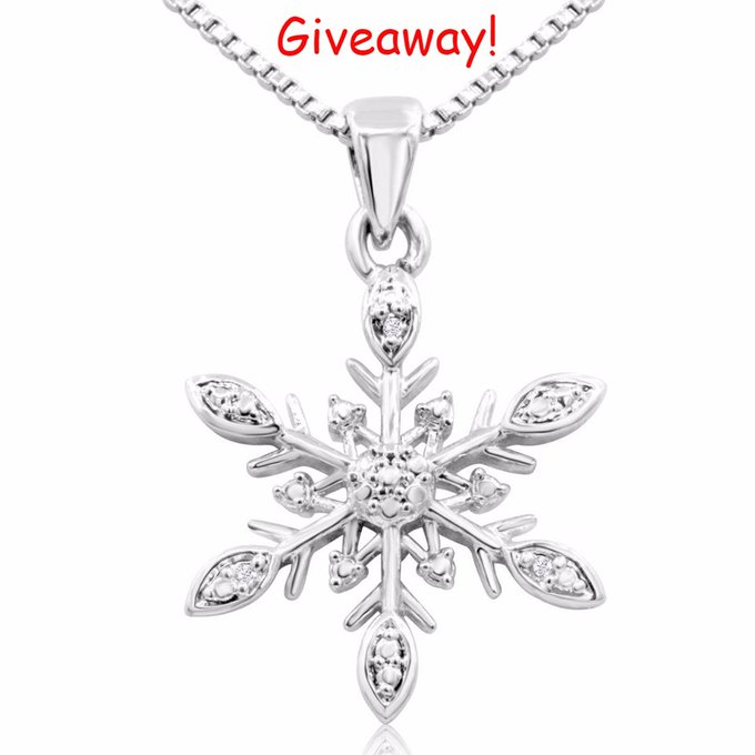 Enter To Win A Diamond Snowflake Necklace