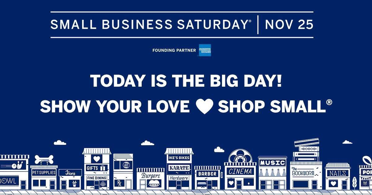 Today is #SmallBizSat! Get up, get out, and #ShopSmall  at the small businesses you love. #AmexAmbassador https://t.co/geFu5XtDX3