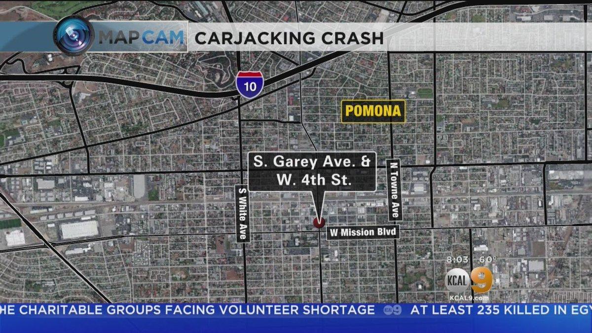 Carjacking Crash In Pomona