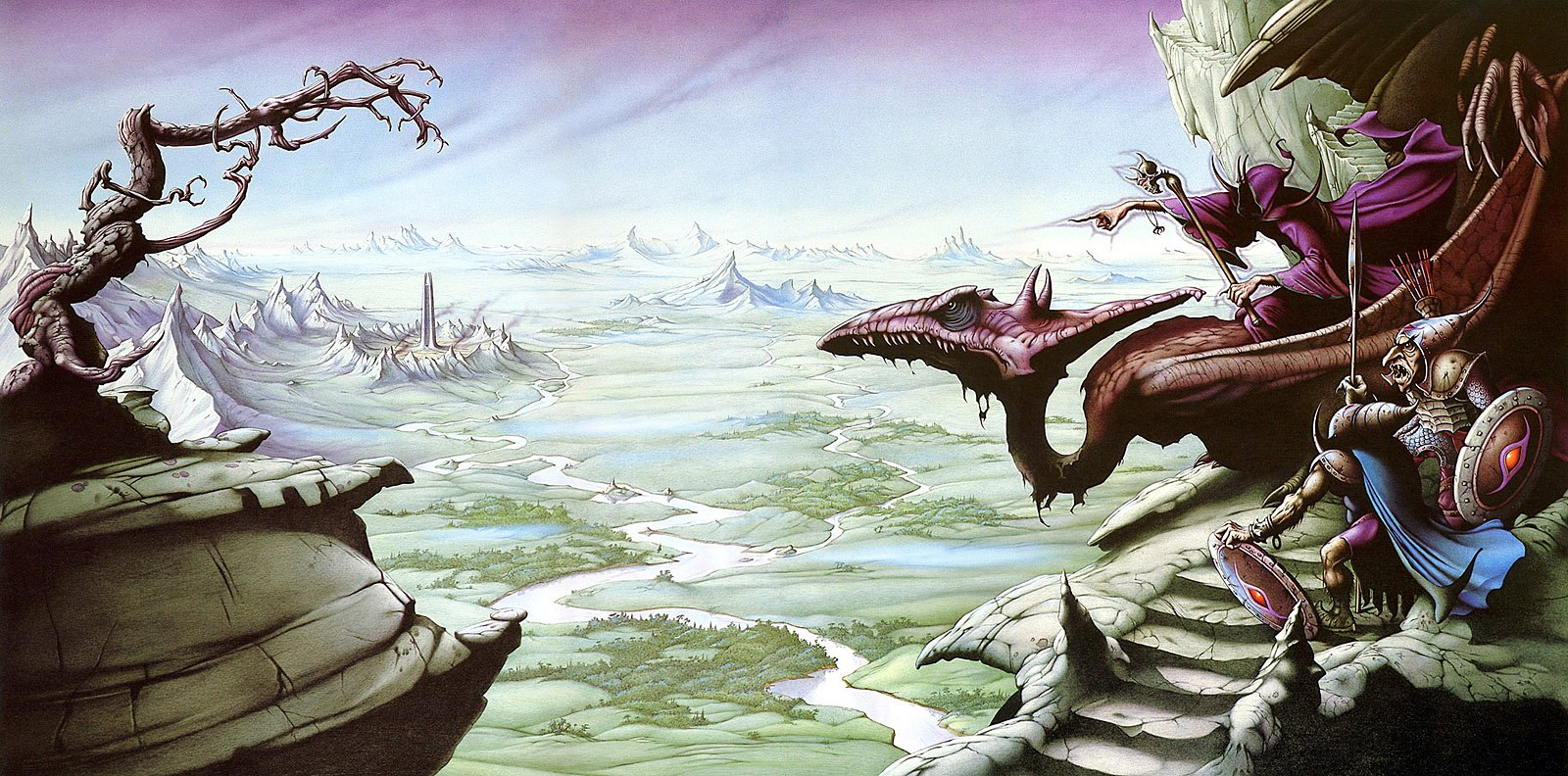 'A View Over Isengard' by Rodney Matthews (1979). https://t.co/7mnNwfa2H3