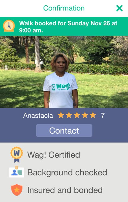 I've herd great reviews on this dog walking app called @wag trying it tom. Has anyone used it before